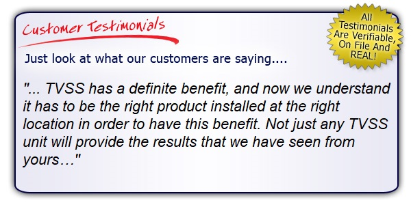 High Quality, High Performance Surge Protector Testimonials. Don't Be Fooled By Imitators. Get the Right Gear!
