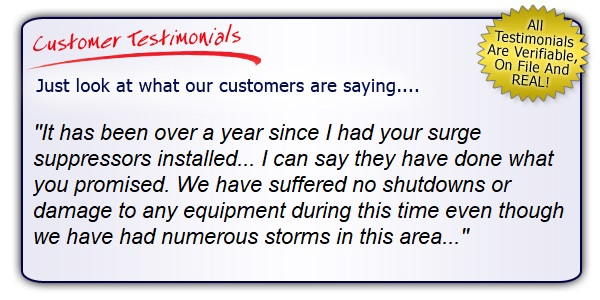 High Quality, High Performance Surge Protection Testimonial. Get the Right Gear!
