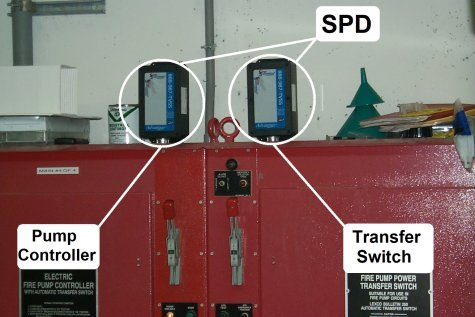 Fire Pump Controllers are critical and sensitive life-safety equipment. Use High Quality, High Performance SPD's for real protective results. Get the Right Gear!