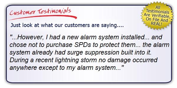 High Quality, High Performance Alarm System SPD Testimonial.