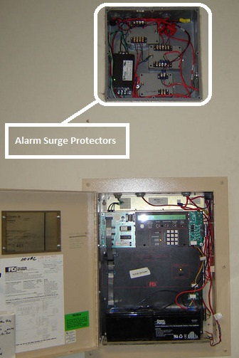 fire alarm surge protector
