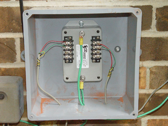 High Quality, High Performance Home Surge Protector. Installed Residential Telephone Line Unit.