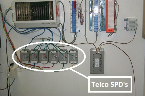 Installation of Multiple High Quality, High Performance Telephone Line Surge Protectors