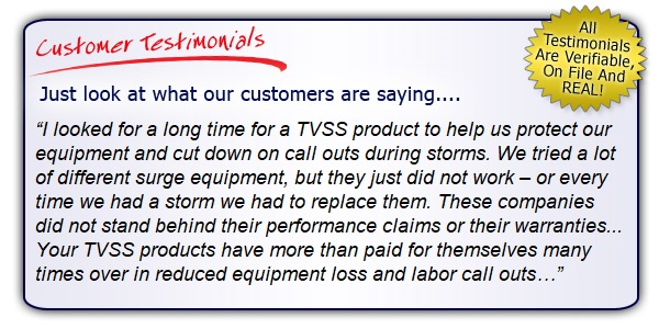 High Quality, High Performance Surge Protector Testimonials. Get the Right Gear!