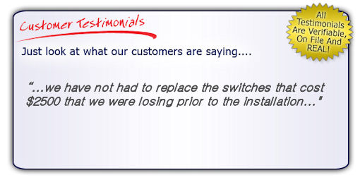High Quality, High Performance Data Line Surge Protector Testimonial