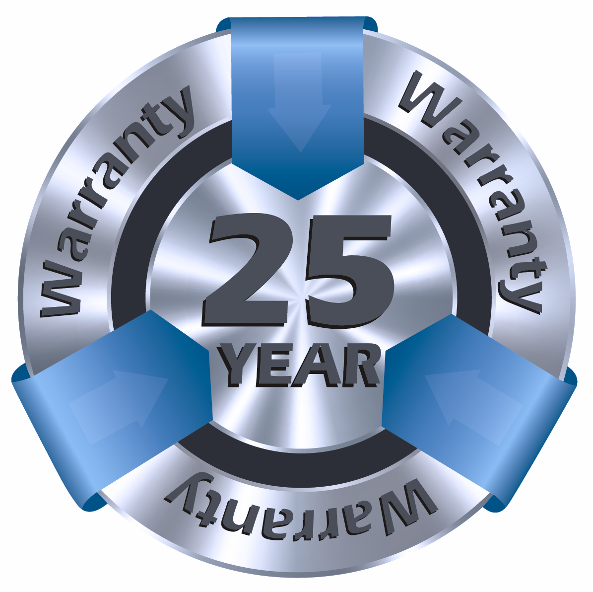 Industry Leading 25 Year No Hassle Warranty. Get the Right Gear! Get the Right Warranty!