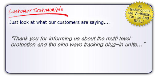Home Theater Surge Protector Testimonial