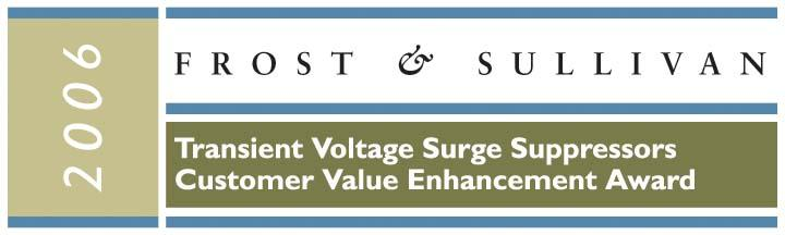 Frost & Sullivan Surge Protector Award. Get The Right Gear!