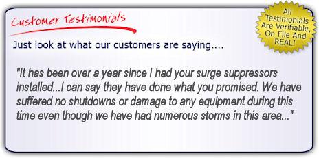 High Quality, High Performance Lightning Surge Protectors Testimonial
