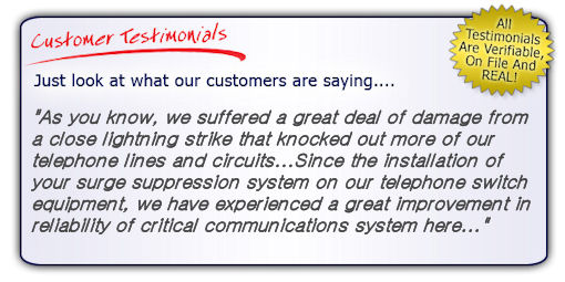 High Quality, High Performance Telephone Line Surge Protector Testimonial